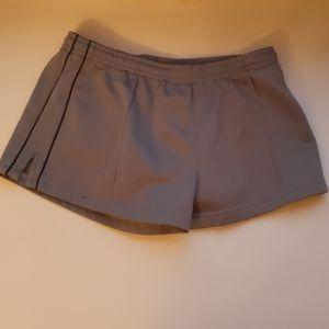 DH Derek Heart gray/black knit running shorts-sz S